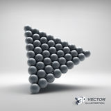 Pyramid of balls. 3d vector illustration Stock Photos