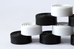 Pyramid of black and white checkers Stock Photography