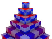 Pyramid blocks Stock Photo