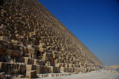 Pyramid and blue sky Royalty Free Stock Photos