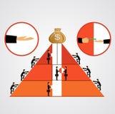 Pyramid of bribes Stock Image