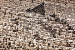 Pyramid of bricks Royalty Free Stock Photography