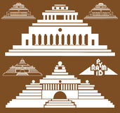 Pyramid on brown background Royalty Free Stock Images