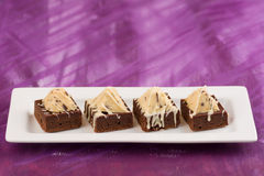 Pyramid Brownies Royalty Free Stock Images