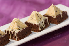 Pyramid Brownies Stock Photography