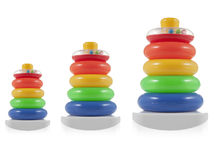Pyramid build from colored  rings. Toy for babies and toddlers Stock Photography