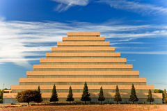 Pyramid building stock photography