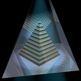 Pyramid Building. Scifi 3d rendering of a Pyramid inside a Glass Pyramid Royalty Free Stock Photos