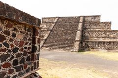 Pyramid building of Teotihuacan buildings royalty free stock images