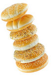 Pyramid of buns Royalty Free Stock Images