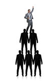 The pyramid of businessmen in business concept. Pyramid of businessmen in business concept Royalty Free Stock Images