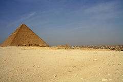 Pyramid and cairo Royalty Free Stock Photos