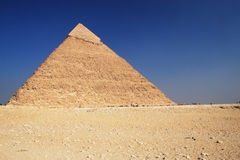 The Pyramid in Cairo. The great ancient Pyramid of Chephren in Giza, near Cairo (Egypt Royalty Free Stock Photo