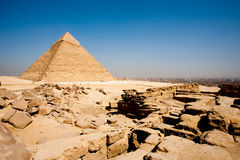 Pyramid Cairo City Edge Funerary Temple Stock Image