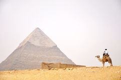 Pyramid in Cairo, Egypt Royalty Free Stock Images