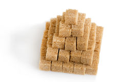Pyramid of cane sugar cubes Stock Photography