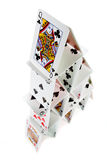 Pyramid of cards Royalty Free Stock Images