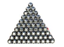 Pyramid from cell Stock Image