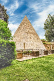 Pyramid of Cestius, iconic landmark in Rome, Italy Stock Image