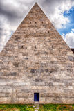 Pyramid of Cestius, iconic landmark in Rome, Italy Royalty Free Stock Photos
