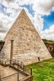Pyramid of Cestius, iconic landmark in Rome, Italy Stock Image