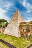 Pyramid of Cestius, iconic landmark in Rome, Italy Stock Photos