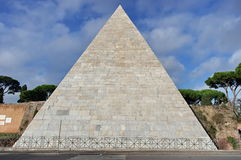 Pyramid of Cestius - landmark attraction in Rome, Italy royalty free stock photo