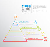Pyramid chart diagram template Stock Image