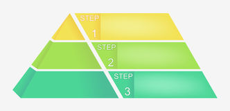 Pyramid chart with four elements with numbers and text, pyramid infographic template, vector eps10 illustration Royalty Free Stock Images