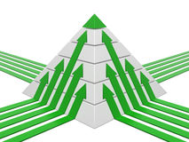 Pyramid chart green-white Stock Photos