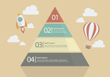 Pyramid Chart Infographic Royalty Free Stock Images