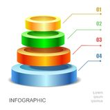 Pyramid chart for infographics presentation Royalty Free Stock Photos