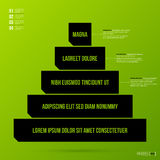 Pyramid chart template on fresh green background Stock Photos