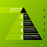 Pyramid chart template on fresh green background Royalty Free Stock Image