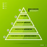 Pyramid chart template on fresh green background Stock Image