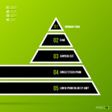 Pyramid chart template on fresh green background Royalty Free Stock Photos