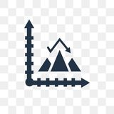 Pyramid chart vector icon isolated on transparent background, Py. Ramid chart transparency concept can be used web and mobile royalty free illustration