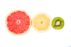 Pyramid charts of Fruits, top, traffic lights Royalty Free Stock Photography