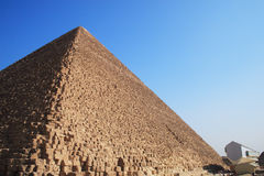 The Pyramid of Cheops. The great ancient Pyramid of Cheops in Giza, near Cairo (Egypt Royalty Free Stock Image