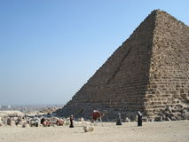 Pyramid of Menkaure of Giza, Egypt. Royalty Free Stock Images