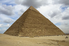Pyramid of Cheops. The largest pyramid of Giza seen from the esplanade of the Sphinx Royalty Free Stock Image