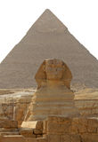 Pyramid of Cheops and the Sphinx Royalty Free Stock Photos