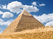 Pyramid of Chephren. Panoramic of the famous pyramid of Giza. Egypt series stock photo