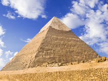 Pyramid of Chephren. Panoramic XXL of the famous pyramid of Giza. Egypt series royalty free stock images