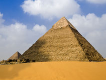 Pyramid of Chephren. Panoramic of the famous pyramid of Giza. Egypt series stock image