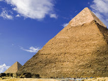 Pyramid of Chephren. Pyramid of Cheops. Egypt series stock image