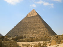 Pyramid of Chephren. In Giza stock photo