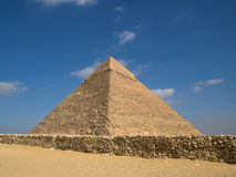 Pyramid of Chephren. In Giza royalty free stock photo