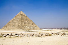 Pyramid of Chephren. At Giza near Cairo royalty free stock image