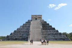 Pyramid Chichen Itza Royaltyfri Fotografi